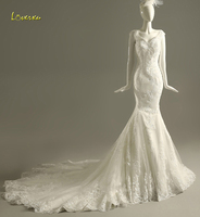 Loverxu Romantic Sweetheart Beaded Sequined Mermaid Wedding Dress 2018 Gorgeous Appliques Cap Sleeve Bride Gown Robe De Mariage