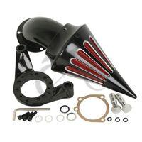Motor Spike Air Cleaner Kit Intake Filter For Harley CV Carburetor Delphi V Twin