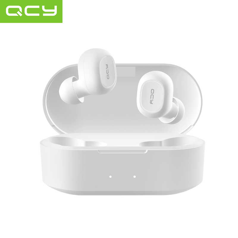QCY QS2 Tws Headphone Bluetooth V5.0 3D Stereo Olahraga Earphone Nirkabel dengan Dual Mikrofon, Auto Connect