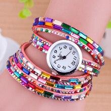 Top Luxury Women Watch Fashion Quartz Colorful Rhinestone Wristwatch For Women Sport Analog Casual Watch Relogio Feminino