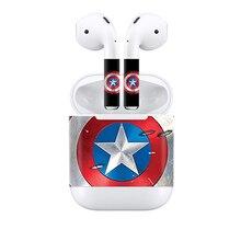 Captain America Sample Vinyl Pores and skin Sticker for AirPod pores and skin sticker headset headphone