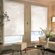 Translucent Sun Screen Roller Blinds in White 35% Polyester 65% PVC Window Curtain for Kitchen Balcony