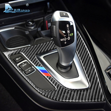 Airspeed for BMW F20 F21 LHD Car Interior Carbon Fiber Gear Shift Panel Cover Trim Car Stickers 1 Series 116i 118i Accessories