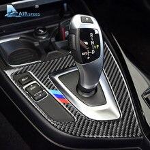 Airspeed-cubierta de Panel de cambio de marchas para coche, pegatinas embellecedoras de fibra de carbono para BMW F20 F21 LHD, 1 serie 116i 118i, accesorios