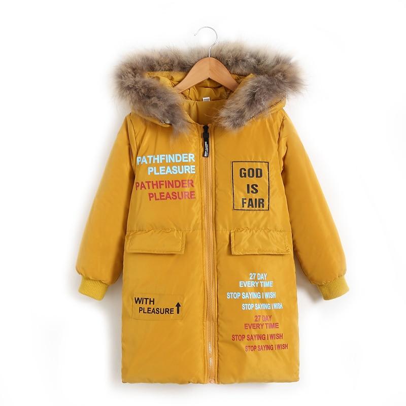 d93e4ea59066 winter jacket for girls Korean 4-13 years old girls down coats girl winter  fur collar children s parkas hot CARTOON print