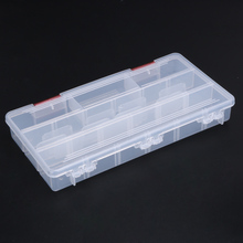 Visible Carp Fishing Plastic Fishing Box Holder Lures Bait Sinkers Storage Case Fishing Tackle Box 5 Compartments