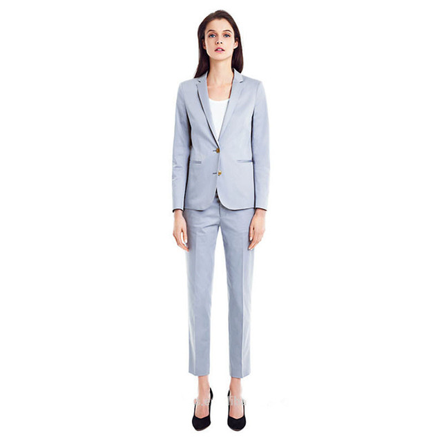 bab4f3b7a07 light blue womens business suits female office uniform formal pant suits  for weddings ladies trouser suit Jacket Pants-in Pant Suits from Women s  Clothing …