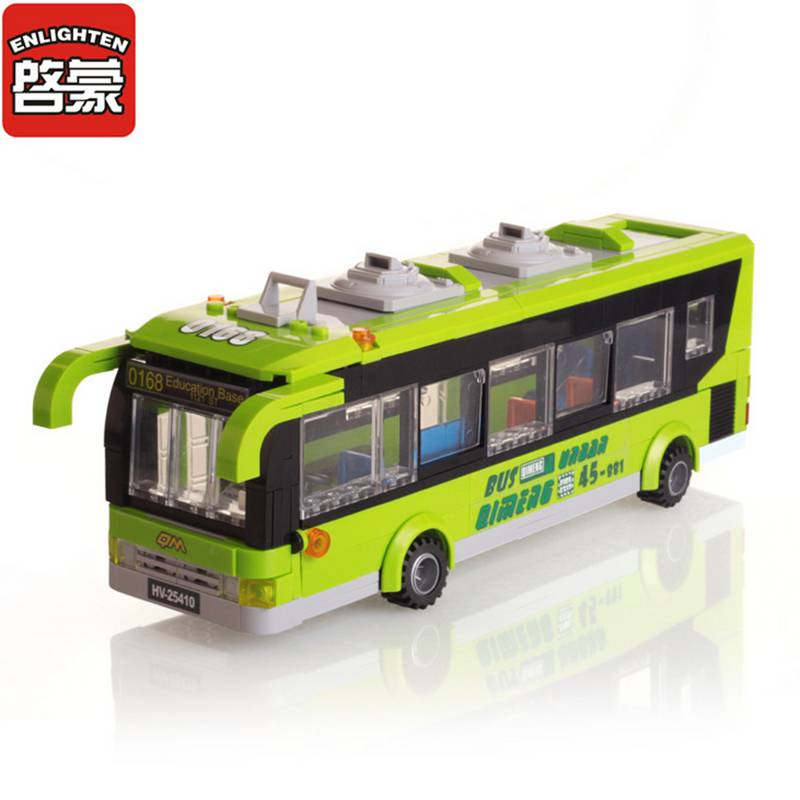 City Bus Blocks Toys for Children Assembled Model Building Kits Block Toys Small Particles Brick Educational Christmas Toys 1121 lepin17001 city street tai mahal model building blocks kids brick toys children christmas gift compatible 10189 educational toys