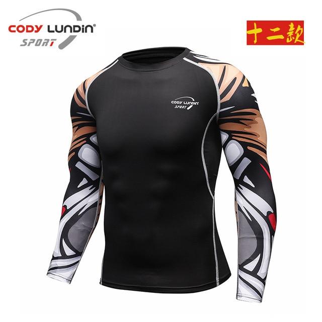 78bad9fc58 Camiseta homme Codylundin Atletismo Tops Blusa Camisa De Compressão  Armadura Respirável Homens   Mulheres t-