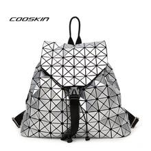 Cooskin 2017 новые моды для женщин бао бао мешок геометрическая сумка рюкзак марка знаменитый логотип мешок блестки backpackwomen сумки дизайнер