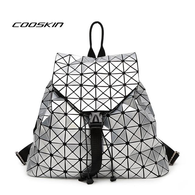 d238d8ce36d ... Geometric Bag backpack brand famous logo bag Sequins  New Fashion bao  bao Issey Miyake Mini Plaid Metal Bag Geometric Diamond Laser Tote Women  Leather ...