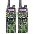 2 unids camuflaje baofeng uv-5r batería de larga walkie talkie transceptor cb de radio baofeng uv5r 5 w vhf uhf de doble banda de 2 vías Radio