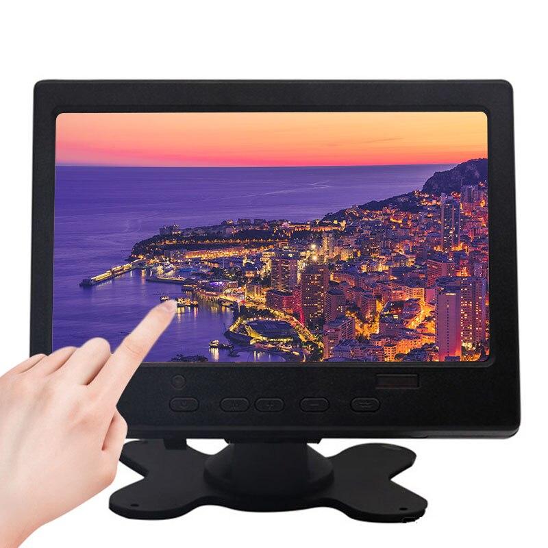 Monitor táctil LCD TFT de 7 pulgadas para Raspberry Pi HDMI + VGA + AV, módulo de pantalla táctil capacitiva, marcha atrás de coche