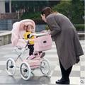 Бесплатная доставка Coolbaby королевской семьи малолитражного автомобиля ребенок тачка двусторонний амортизаторы четыре колеса детские коляски мама мешок