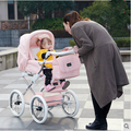 Envío libre Coolbaby familia real bebé carretilla de dos vías amortiguadores de coche de bebé de cuatro ruedas del cochecito de bebé mamá bolsa