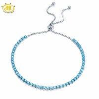 Hutang Solide 925 Sterling Silber Nano Türkis Armbänder für frauen Mädchen Fine Jewelry Einstellbare Armband Weihnachtsgeschenk