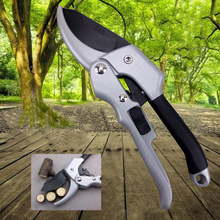 2017 New Garden Tools Ratchet Carbon Steel Pruning Shear Gardening Tree Flower Labor-saving Pruner Cutting Tool
