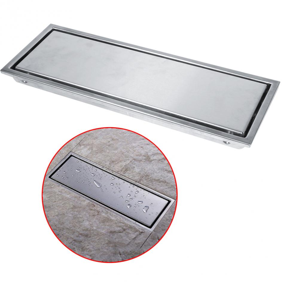 Stainless Steel Rectangular Shower Floor Drain Linear Waste Gate Shower Drainer