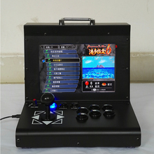 1300 game home arcade fighters small desktop double LCD joystick game console ken arcade joysticks game controller for computer game street fighters