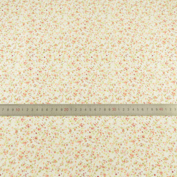 100% Licht Geel Katoen Stof Gedrukt Mini Bloemen en Blad Ontwerp Tela Art Werk Patchwork Thuis Texitle Vet Kwart Pop's DIY
