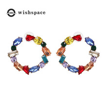 Exquisite color set auger Bohemian fashion earrings
