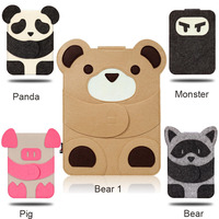 2016 New Case For Ipad Air Pro 2 3 4 5 Wool Felt Cartoon Cartoon Characters