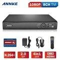 ANNKE HD-TVI 1080 P 8-Channal 4-в-1 Безопасности DVR Рекордер Система и НЕТ ЖЕСТКОГО ДИСКА В Комплекте