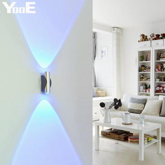 YooE 2W LED Wall Lamp AC110V/220V Acrylic Aluminum Indoor Wall ...