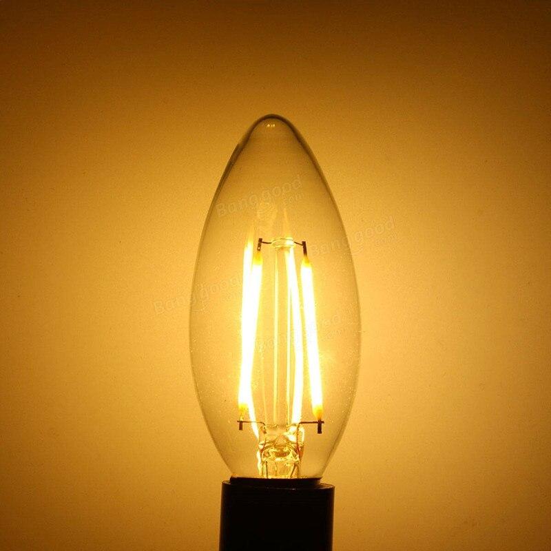 100 шт./лот, DHL/Fedex Бесплатная доставка! Светодиодная лампа накаливания E12/E14 AC220V 230В 240В 2 Вт/4 Вт, светодиодные лампы, прожектор для внутреннего о... - 3