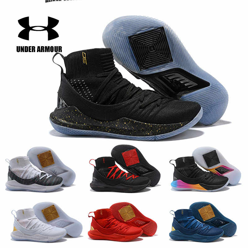 promo code ea2e8 e1d13 Curry 5 Men Under Armour Shoes Men UA Curry 5 Basketball Shoes zapatos  hombre Outdoor Sneakers Man Athletic Sport shoes 40-46