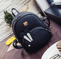 Fashion newest women girl cute pu leather backpack simple campus student school bag backpack  rabbit ear cartoon q6985w