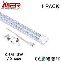 V形統合ledチューブライトt8 led 220ボルト18ワット2ft 85-265ボルトダブルサイド12v ledチューブt8チューブ統合smd 2835送料無料