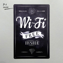DL-Free WiFi Inside Decal Sticker Sign Window Business Restaurant Store Internet