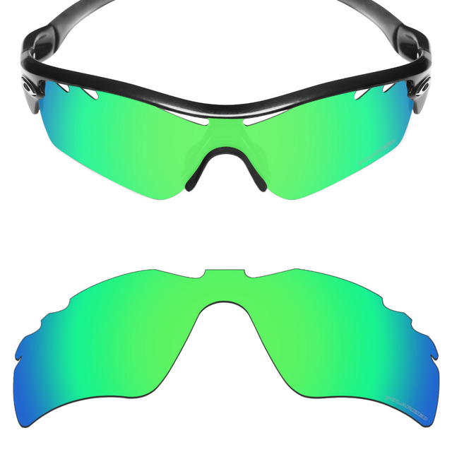 HKUCO Plus Mens Replacement Lenses For Oakley Radar Path-Vented Red/Blue/Titanium/Emerald Green Sunglasses 68tvTpDb6