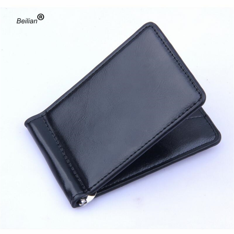 Fashion Men 39 s PU Leather Mini Wallet Card Holder Small Zipper Coin Purse Slim Metal Wallet Card Case Protector Magic Wallet in Wallets from Luggage amp Bags