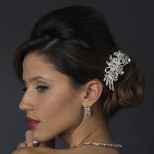 Lujo cristal Shinning del banquete de boda Rhinestone Crystal peine del pelo