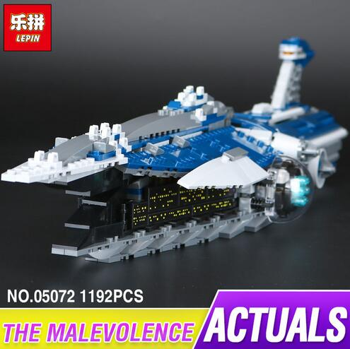 Lepin 05072 1192Pcs The Limited Edition Malevolence Warship Set Children Building Blocks Bricks Toys Model 9515 kazi 608pcs pirates armada flagship building blocks brinquedos caribbean warship sets the black pearl compatible with bricks