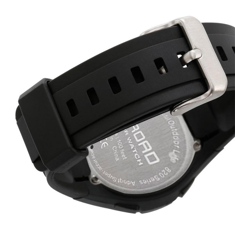 7c3ac7e53d59 Original 22mm negro correa de reloj de goma de silicona impermeable ...