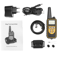 800m Range Bark stop Collars Electric Dog Training Collar Pet Remote Control Waterproof Rechargeable with LCD Display
