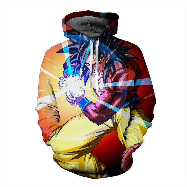 Goku Kamehameha 3D Hooded Sweatshirts