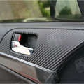8pcs/set Carbon Fiber 4 Door Armrest Handle Carbon Fiber Protection Car Stickers Fit For MITSUBISHI Lancer