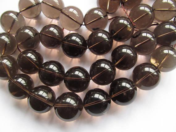 AA-20 мм 16 дюймов рок-дымчатый кристалл кварца цитрин Аметист коричневый рок кристалл круглый шар ограненный прозрачный Цепочки и ожерелья из...