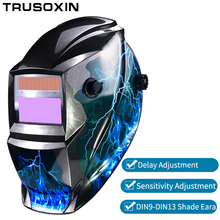 цена на NEW AAA battery+Solar automatic darkening TIG MIG MMA welding mask/helmets face mask weld goggles/eye protection mask/machine