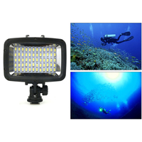Video Diving Light Waterproof 1800LM 60 LED Underwater Lamp Lights For GoPro Accessories Sports Camera Photo Lamp