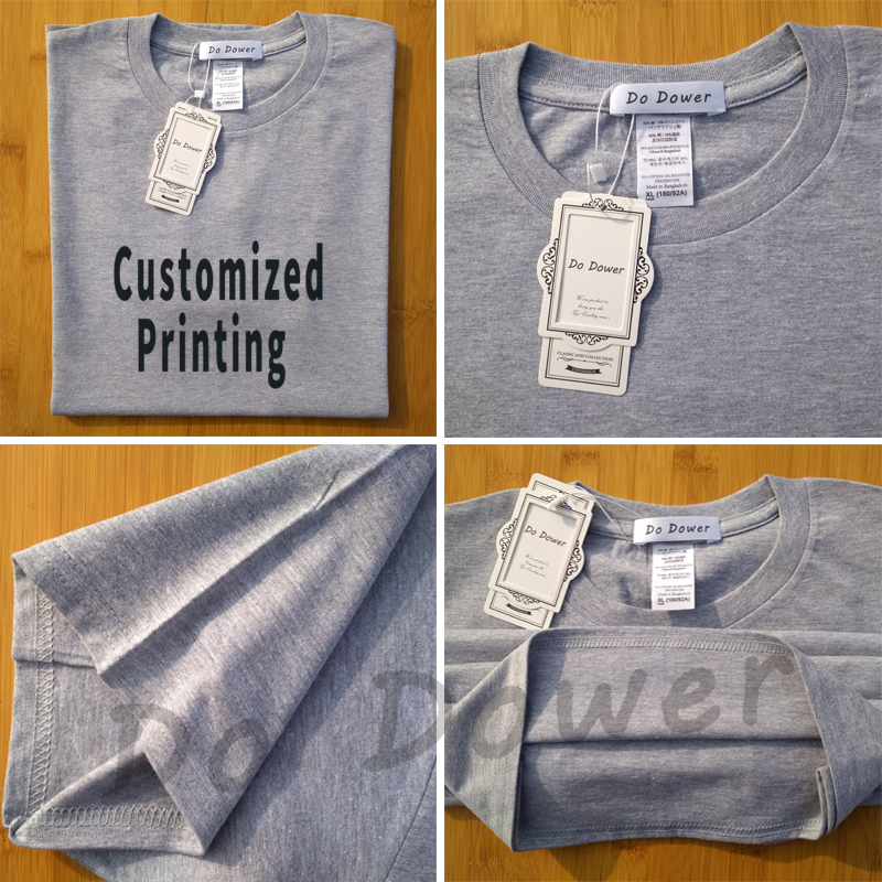 Customised Printing 2018 New Solid T Shirt Men Brand Clothing Male T-shirt Top Quality 100% Cotton Tshirt for Men Plus Size 3XL