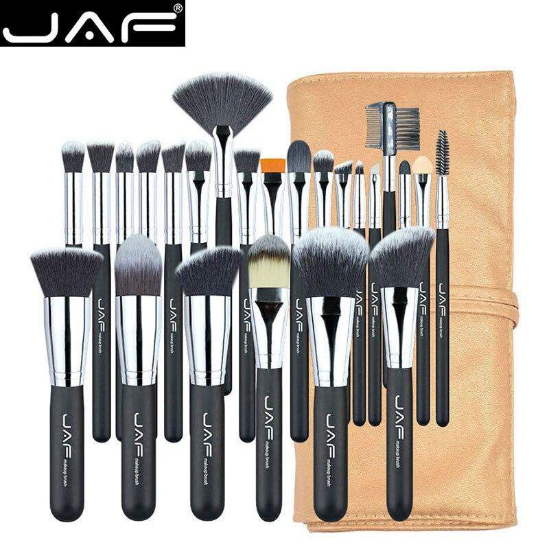 JAF 24 pcs Pincéis de Maquiagem Profissional Definida de Alta Qualidade  Make Up Brushes Full Função 3433db7678