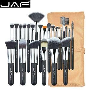 Image 1 - JAF 24 sztuk profesjonalny zestaw pędzli do makijażu wysokiej jakości pędzle do makijażu szczotki pełna funkcja Studio syntetyczny makijaż zestaw narzędzi do J2404YC B