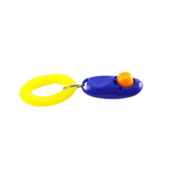 Uniwersalny Cat Dog Puppy Clicker Agility Training Button Trainer z brelokiem + pasek na rękę Pet narzędzie pomocy posłuszeństwa 669 tanie i dobre opinie FangNymph Szkolenia Clickers Z tworzywa sztucznego 116733