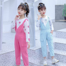 Get more info on the Girls Spring Autumn Clothes Set Kids Suspender Pants Romper Jumpsuit + Tshirt 2 Pieces Clothing Set Girl Casual Outfit 4-13 Year