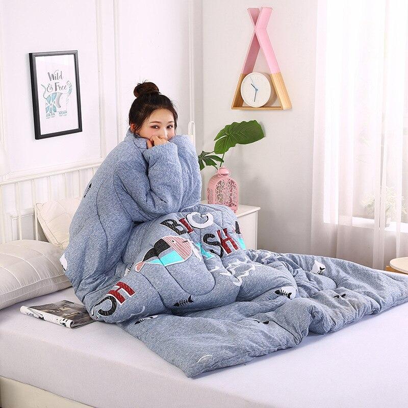 150*200 cm hiver automne paresseux couette avec manches famille couverture Cape Cape Cape sieste couverture dortoir manteau couvert gigoteuse